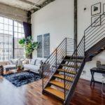 Loftowe wnętrze w San Francisco … nowoczesna poindustrialna przestrzeń